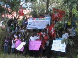 foto KNPB wilayah Sorong  dukung ULMWP membw West Papua ke MSG